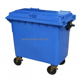 Waste Container With Four Wheel And Brake * Images are for illustrative purposes only *