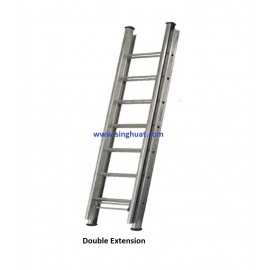 DOUBLE EXTENSION FIREMAN LADDER - ALUMINIUM * Images are for illustrative purposes only*